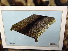 Leopard Print King Size Blanket Bedspread
