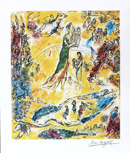 Marc Chagall Sorcerer Of Music Litho Print Signed Numbered 30 x 25