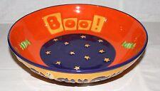 "DEBBIE MUMM Halloween 9"" Candy Bowl BOO!  Ghostly Fun! NEW Orange Purple Green"