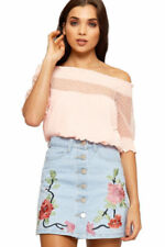 Cotton Floral Mini Skirts for Women