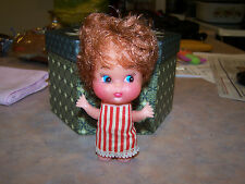 """5"""" Strawberry Red Hair Plastic Small Doll"""