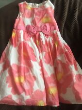 Gymboree Girls Floral Flowers Pink Yellow dress Party Euc Size 5T