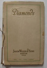 Jewelry Gems 1928 Trade Catalogue for Jason Weiler Diamonds Boston Diamond Rings