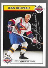 93/94 Zellers Masters of Hockey Auto Jean Beliveau /1000 Canadiens