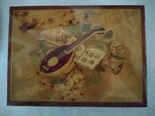 Jewelry Inlay Wood Music Box Reuge Swiss Movement Sorrento Italy ,