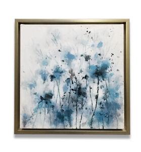 Hungryartist - NY artist - Framed modern original abstract floral oil painting