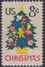 US - 1973 - 8 Cents Needlepoint Christmas Tree  with Ornaments Issue #1508 Mint