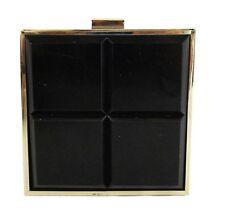 LA REGALE Square Black Metal  Cross-body Bag Msrp $109.00