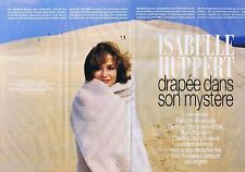 COUPURE DE PRESSE CLIPPING 2004 ISABELLE HUPPERT  (10 pages)