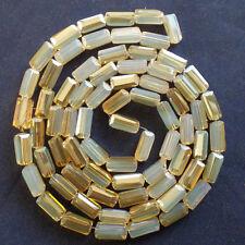 72Pcs Opal Rectangular Facted Man Made Crystal Loose Beads 4x8mm A80