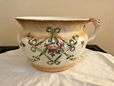 Antique Crown Devon S Fieldings, Stoke on Trent 'RIBBON' Chamber Pot