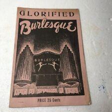 1934 Glorified Burlesque Ann Corio Book Of Photos/Cartoons Stageland's girls