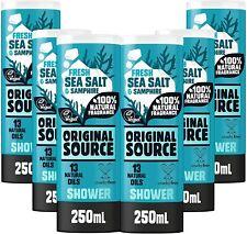 Original Source Sea Salt and Samphire Shower Gel, (6 x 250ml) Vegan Body Wash