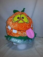 "Plush Pumpkin Hat Halloween Costume Soft fabric hat by Happy Haunters 12"" Tall"