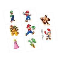 SUPER MARIO BROS 8 TATTOOS PARTY FAVOURS SUPPLIES