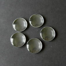 10 CLEAR ROUND CABOCHON GLASS DOME SEALS 35mm