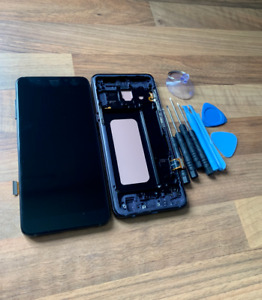 REPLACEMENT SAMSUNG GALAXY A8 2018 A530F LCD SCREEN DISPLAY BLACK FRAME CHASSIS