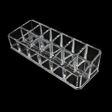 Lipstick Holder Display Cosmetic Organizer 12-Slot Makeup Case Clear Acrylic