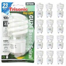12 Pc Daylight Bulb Light 23 W Energy 100 Watt Output Spiral White Fluorescent
