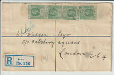 "NIGERIA -  "" ZARIA "" GV 3d REGISTERED LETTER 1924"