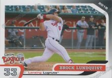 2018 Lansing Lugnuts Brock Lundquist RC Rookie Toronto Blue Jays