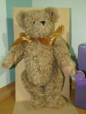 """New Annette Funicello Collectible Teddy Bear Keylee 18"""" Mohair Jointed In Box"""