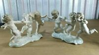 "Antique German Hutschenreuther by K. Tutter Porcelain Putti Grouping, 2 Pcs, 9"""