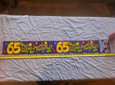 Happy 65th Birthday Purple Decoration Celebration 2.6M Long Regent