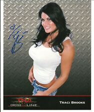 TRACI BROOKS TNA AUTOGRAPH 8X10 PHOTO WWE SUPERSTAR HAND SIGNED STORE SIGNING