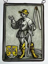 """Leaded Glass Window Image Stained Glass """"medieval Bauer Motif"""""""