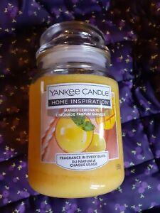 new Yankee Candle Mango Lemonade large jar  - yellow