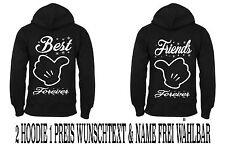 Hoodie Best Friends Pullover 2 Stück Partner Look Viele Farben Love XS - 5XL