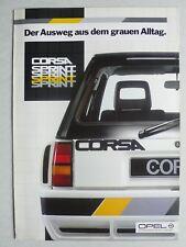 Prospekt Opel Corsa A Sprint C/DR Irmscher, 4.1985, 8 Seiten, folder