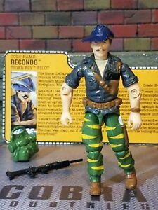GI JOE ~ 1988 TIGER FORCE RECONDO ~ HIGH GRADE &  NO ELBOW CRACKS ~ 100%  & CARD