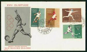 Mayfairstamps San Marino FDC 1960 XVII Olimpiade Sports Combo First day Card wwp