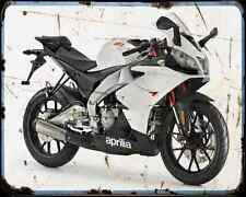 APRILIA Rs4 11 4 A4 Metal Sign moto antigua añejada De