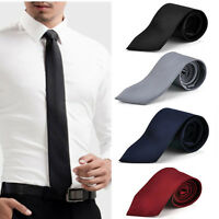 Fashion Classic Solid Plain Tie Jacquard Woven Men's Silk Suits Ties Necktie