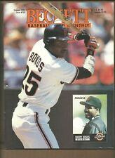Beckett Baseball Card Monthly Magazine Barry Bonds October 1993