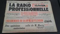 Journal Monthly La Radio Professional N°199 October 1951 ABE