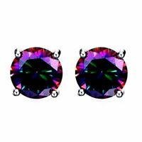 2 ct. Mystic Topaz Round Stud Earrings in Solid Sterling Silver