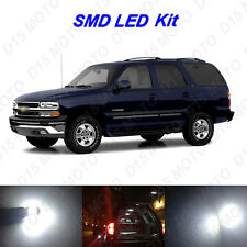 16x White LED interior Bulbs + Reverse + Tag Lights For 2000-2006 Chevy Tahoe
