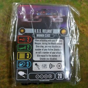 Star Trek Attack Wing USS RELIANT FED MIRANDA CLASS OP Prize NEW CARDS ONLY