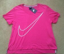 Womens Nike Prep T-Shirt Top Vest Casual Running Gym Yoga Cycling Pink RRP£34.99