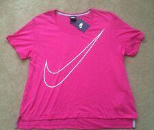 Womens Nike Prep T-Shirt Top Vest Casual Running Gym Yoga Cycling Pink RRP£34.99