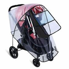 Clear Baby Stroller Rain Cover Wind Dust Shield Fit Most Canopy Pushchair
