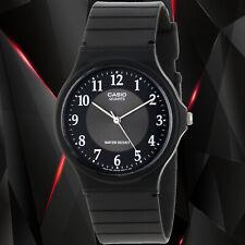 Casio MQ-24-1B3 Men's Black Analog Watch WR Resin White Numbers Classic New