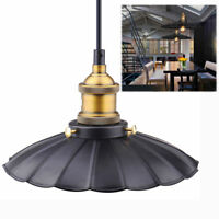 Wavy edge Vintage Retro Style Metal Ceiling Pendant Light Shade Lampshades