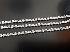 2 Auf 15 Meter Kette Konten Kristalle Strass 2,5mm Weiß (CAD-50) (SS8A)