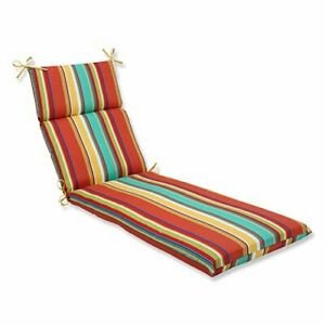 Pillow Perfect Outdoor Westport Spring Chaise Lounge Cushion Multicolored72.5...
