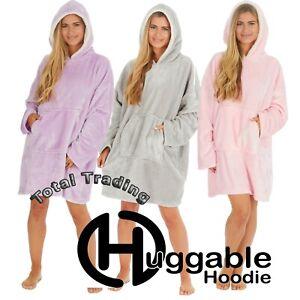 Hoodie Blanket Oversized Ultra Plush Fleece Big  Hooded Sweatshirt  tV